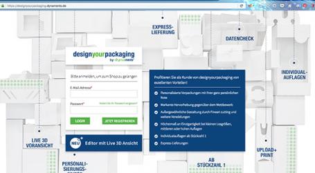 Individuelle Verpackungen aus dem Browser