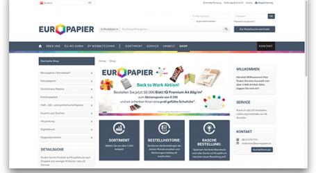 Neuer Europapier-Webshop jetzt online