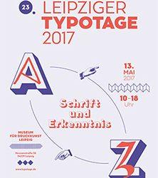 Leipziger Typotage – Schrift und Erkenntnis