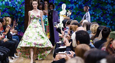Bedruckte Stoffe für die London Fashion Week