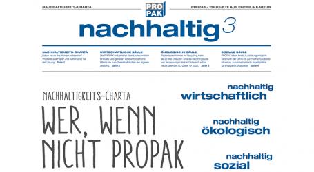 PROPAK präsentiert  Nachhaltigkeits-Charta