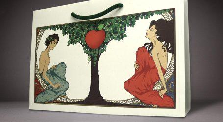 Mehrweg-Papiertaschen aus Apfel-Trester