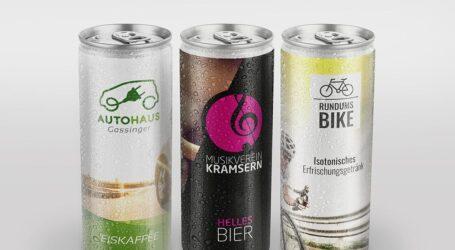 Bedruckbare Getränkedosen mit fünf neuen Geschmacksrichtungen