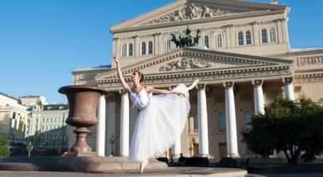 Gedruckte Bühnenbilder für das Bolschoi-Theater