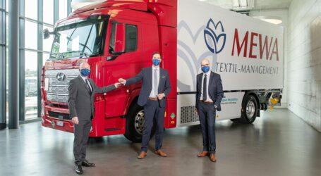 Wasserstoff-Lkw für MEWA  die Zukunft auf vier Rädern