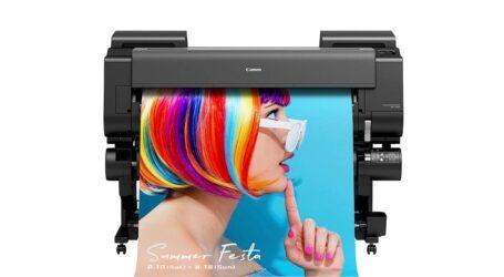 Großformatdrucker mit wasserbasierenden Tinten